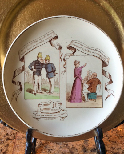 French Horoscope Plate