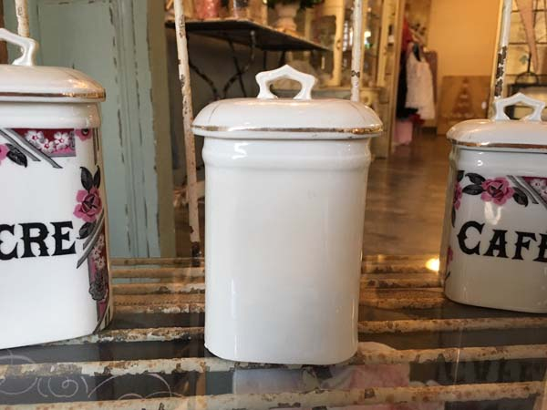 french antique canisters