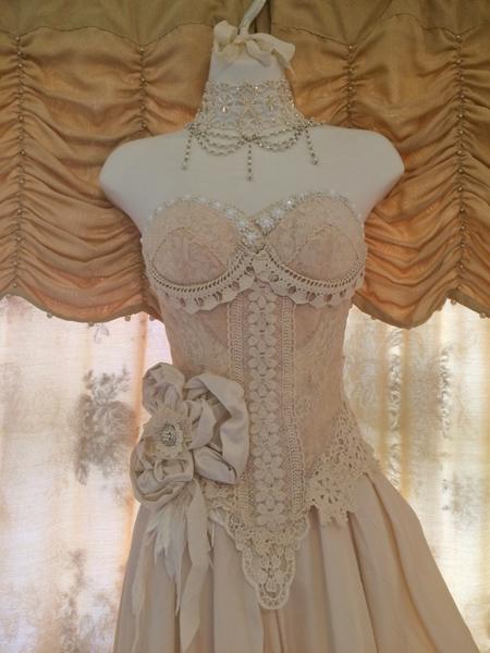vintage dress form wedding gown