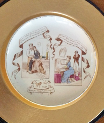 Vintage French Horoscope plate