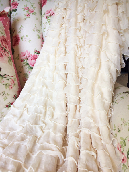romantic decor ruffles fabric