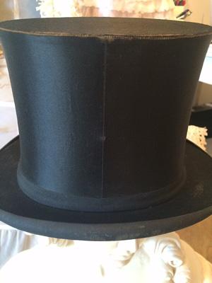 7bedd312303 Antique French Silk Top Hat Gentleman s Decor Costume Piece