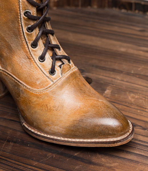 victorian style boots leather