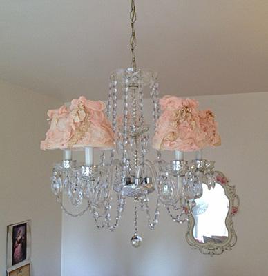 Vintage paris style pink chandelier shades shabby cottage style home 052913e pink chandelier shades catalog pink chandelier shades aloadofball Gallery