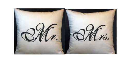 Mr. and Mrs. Pillow Slip Set