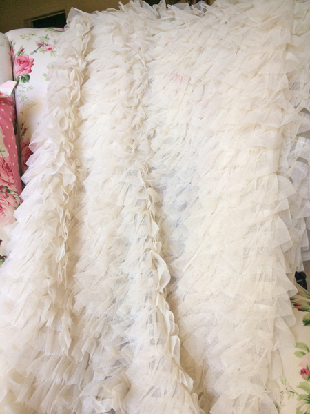 Ruffled Tulle Fabric Layers Of Cascading Tulle