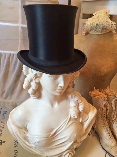 8dd3c581b8d Catalog   French Silk Top Hat. ~ Antique French Silk Top Hat Costume Decor ~