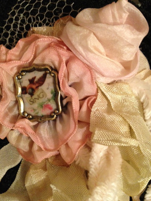 Pink Ribbon Rose Pin