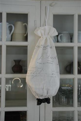 French Script Luxury Storage Bag