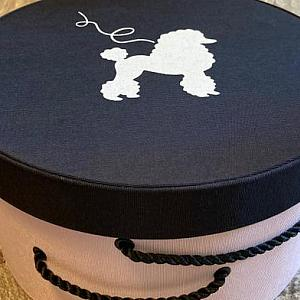 French Poodle Hatbox