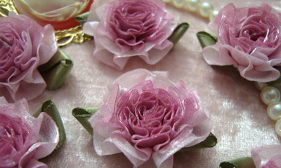 Rosey Mauve Cabbage Roses