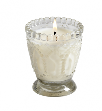 French Velvet Glass Votive