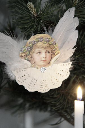Angel Ornament With Wings Style I