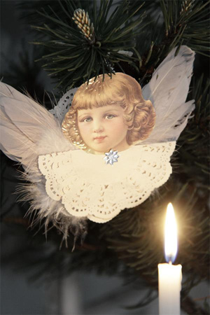 Angel Ornament With Wings II