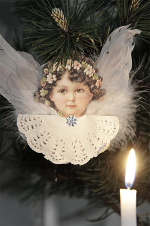 Angel Ornament With Wings Style III