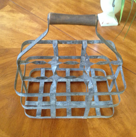 Antique French Bottle Carrier