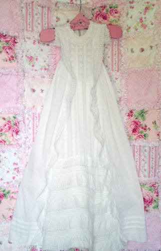 Antique French Victorian Christening Gown