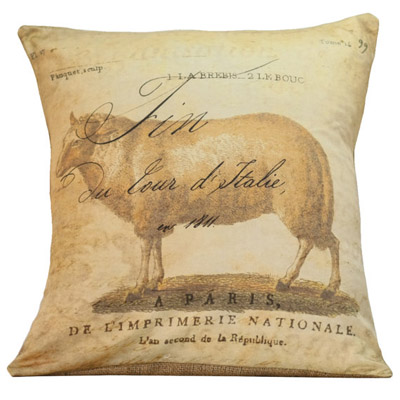 French Country Sheep Pillow Cover
