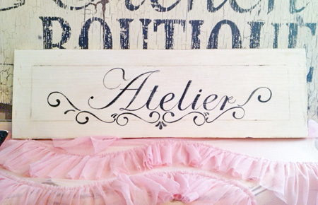 Vintage French Atelier Sign