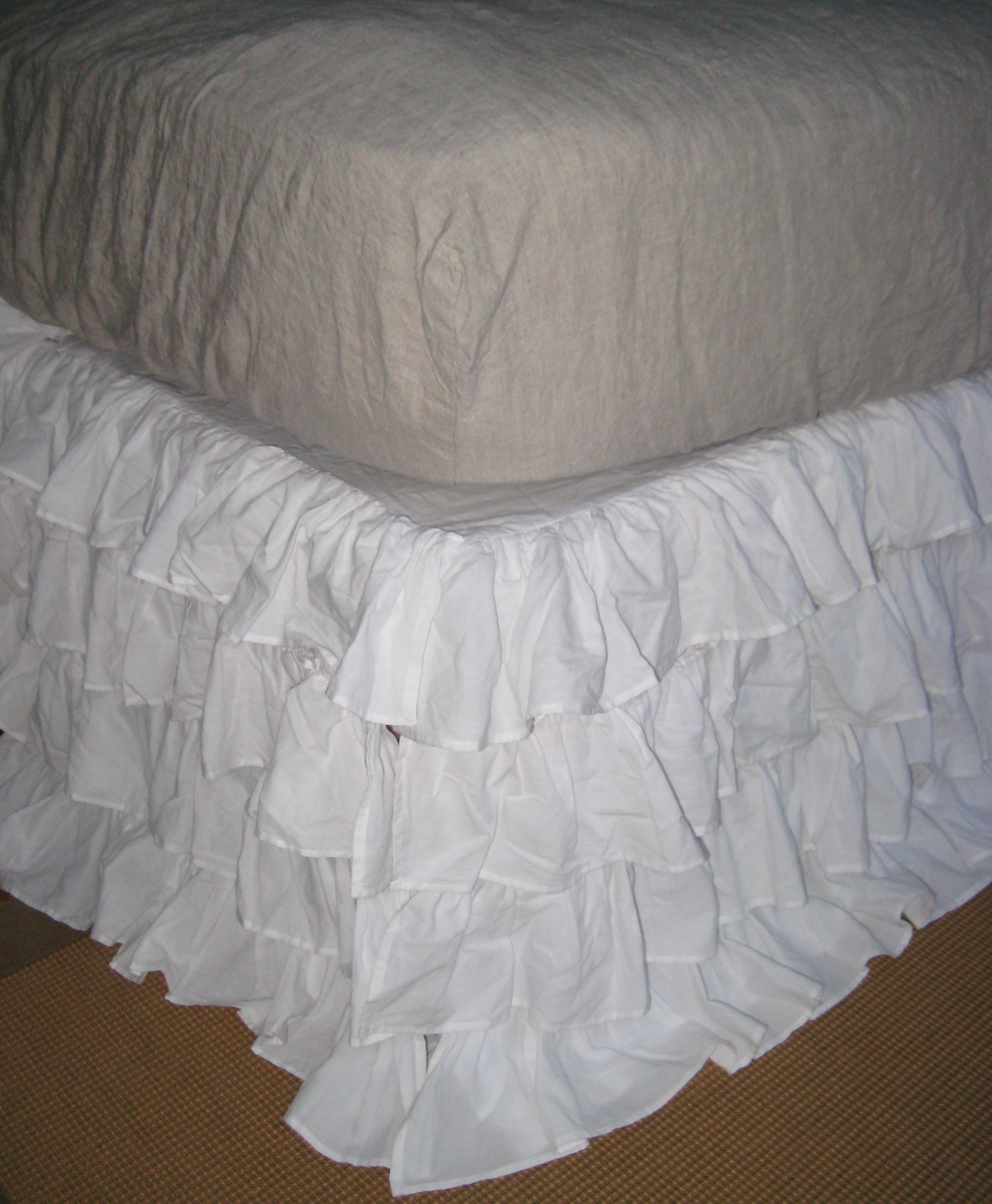 Ruffled White Bedskirt $161 to $219