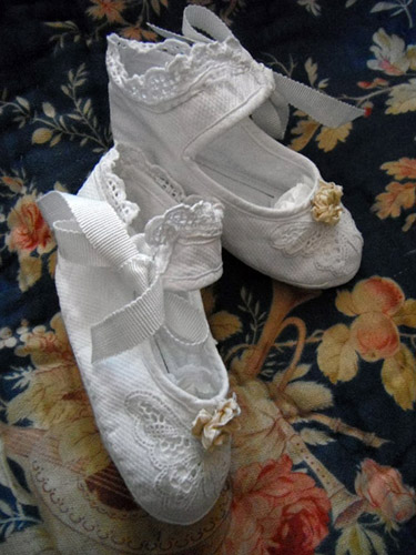 French Antique Baby Slippers