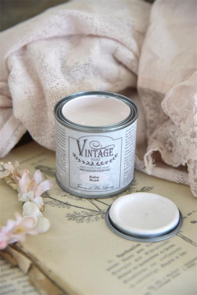 Vintage Paint Color Baby Rose