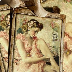Paris Ballerina Gift Card And Tag Set