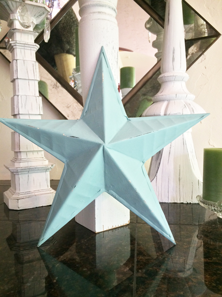 Dusty Turquoise Rustic Star