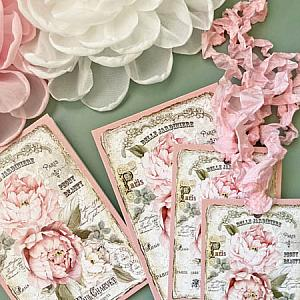 Belle Peonies Paris Gift Cards And Tags