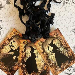 Bewitched Halloween Gift Tags