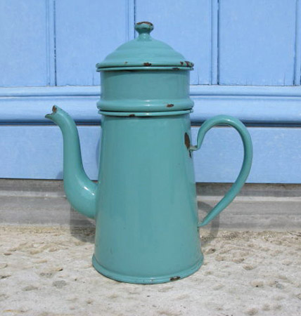 French Enamelware Coffee Pot