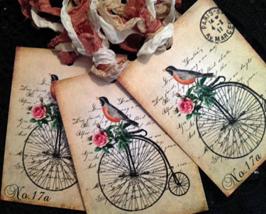 Bicycle Bird Gift Tags