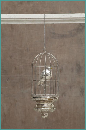 Tiny French Birdcage Ornament