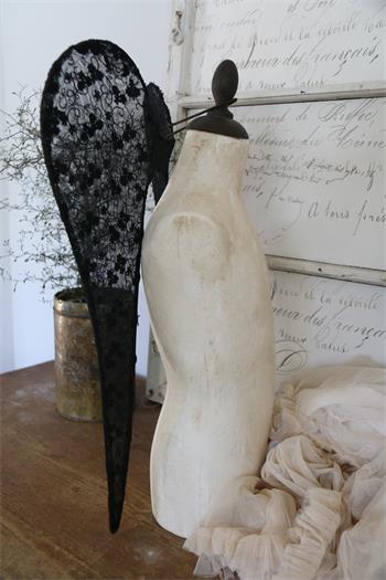 Black Lace Angel Wings
