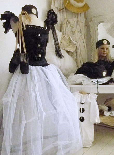 French Pierrot Theatre Costume Gown