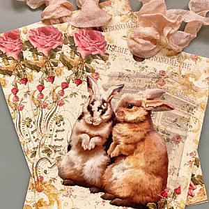 Le Lapin French Rabbit Tags
