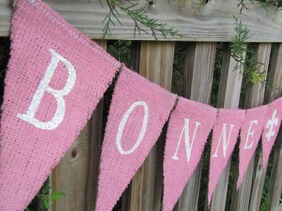 Garland Shabby Pink Bonne Fete