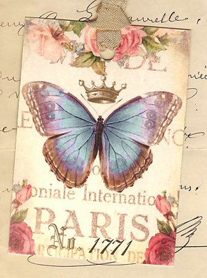 Paris Papillon Gift Tags