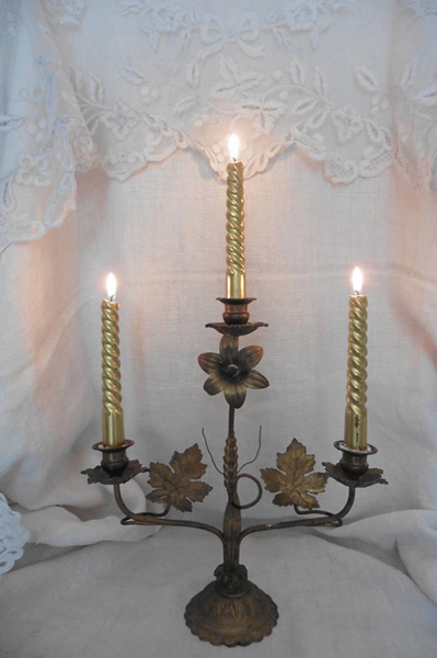Antique French Church Candelabra