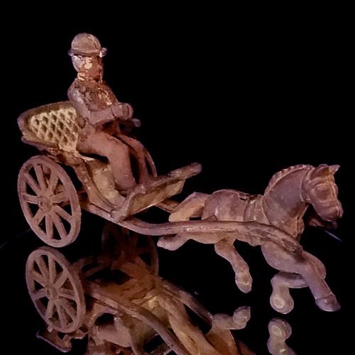 Antique Horse Drawn Buggy Victorian Era Toy