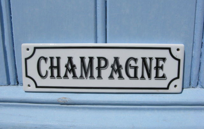 French Vintage Champagne Sign