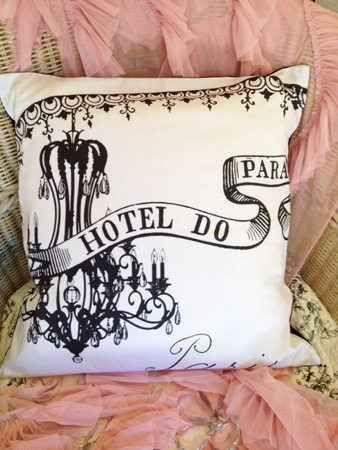 French Chandelier Pillow Slip