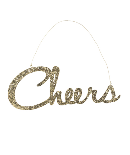 Cheers Glitter Sign