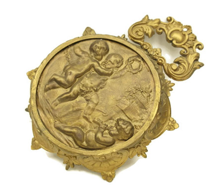 Antique French Cherub Wall Hanging