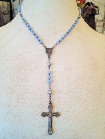 Vintage French Child's Rosary