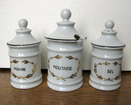 Limoges French Condiment Set