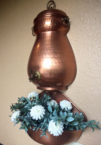 French Copper Lavabo Fountain