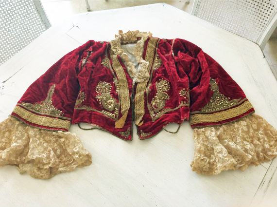 Antique Velvet Costume Theater Jacket