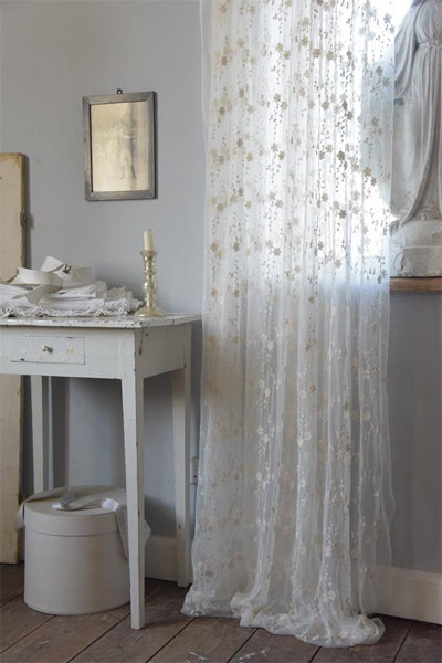 Jeanne d Arc Living Tulle Fabric Off White