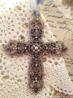 Crystal Cross Decoration